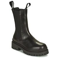 Čevlji  Ženske Polškornji Karl Lagerfeld BIKER II LONG GORE BOOT Črna