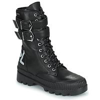 Čevlji  Ženske Polškornji Karl Lagerfeld TREKKA II HI CUFF BUCKLE BOOT Črna