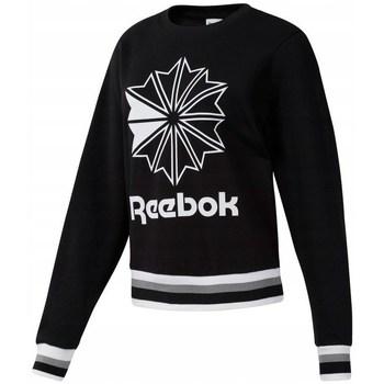 Oblačila Ženske Puloverji Reebok Sport CL FT Big Logo Crew Bela, Črna