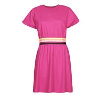 Oblačila Ženske Kratke obleke Karl Lagerfeld LOGO TAPE JERSEY DRESS Rožnata