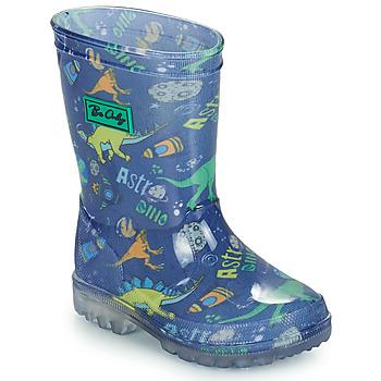 Čevlji  Dečki škornji za dež  Be Only DINO FLASH Modra / Zelena
