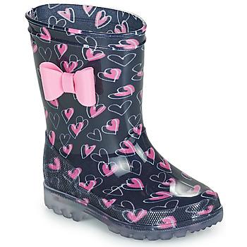 Čevlji  Deklice škornji za dež  Be Only LOVANA FLASH Rožnata