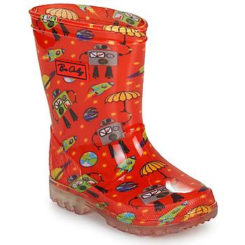 Čevlji  Dečki škornji za dež  Be Only CYBORG Rdeča