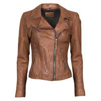 Oblačila Ženske Usnjene jakne & Sintetične jakne Oakwood CLIPS 6 Kostanjeva