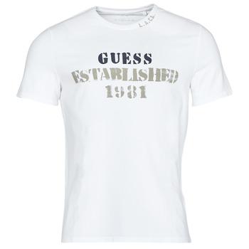 Oblačila Moški Majice s kratkimi rokavi Guess WORKFOR CN SS TEE Bela