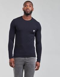 Oblačila Moški Majice z dolgimi rokavi Guess CN LS CORE TEE Modra