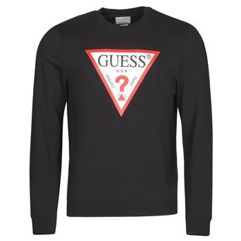 Oblačila Moški Puloverji Guess AUDLEY CN FLEECE Črna
