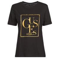 Oblačila Ženske Majice s kratkimi rokavi Guess SS CN SIMONNE TEE Črna