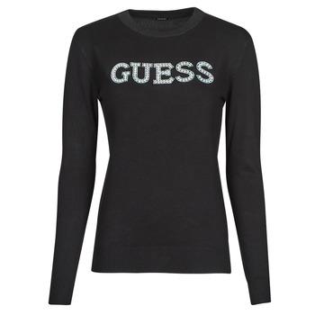 Oblačila Ženske Puloverji Guess ELVIRE RN LS SWTR Črna