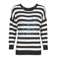 Oblačila Ženske Puloverji Guess CLAUDINE BAT SLEEVE SWTR Črna / Bela