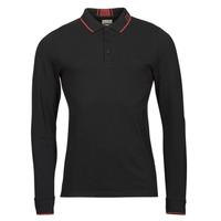 Oblačila Moški Polo majice dolgi rokavi Guess STU LS POLO Črna