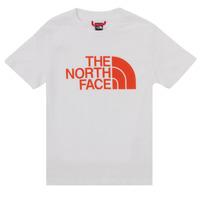 Oblačila Dečki Majice s kratkimi rokavi The North Face EASY TEE SS Bela