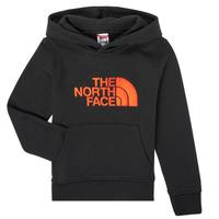 Oblačila Dečki Puloverji The North Face DREW PEAK HOODIE Črna
