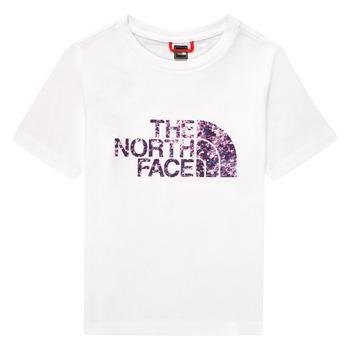 Oblačila Deklice Majice s kratkimi rokavi The North Face EASY BOY TEE Bela