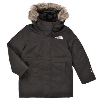 Oblačila Deklice Parke The North Face ARCTIC SWIRL PARKA Črna