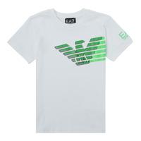 Oblačila Dečki Majice s kratkimi rokavi Emporio Armani EA7 THAMIA Bela / Zelena