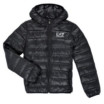 Oblačila Dečki Puhovke Emporio Armani EA7 ANISTA Črna