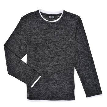 Oblačila Dečki Majice z dolgimi rokavi Deeluxe MONAN Črna