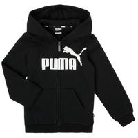 Oblačila Dečki Puloverji Puma ESSENTIAL BIG LOGO FZ HOODIE Črna
