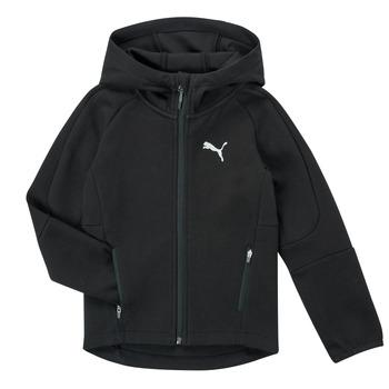 Oblačila Dečki Puloverji Puma EVOSTRIPE FZ HOODED JACKET Črna