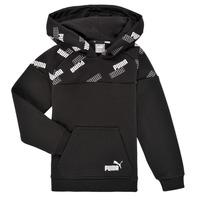 Oblačila Dečki Puloverji Puma PUMA POWER AOP HOODIE Črna