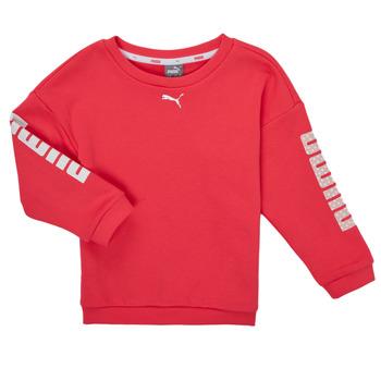 Oblačila Deklice Puloverji Puma ALPHA CREW SWEAT Rožnata