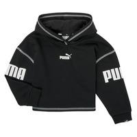 Oblačila Deklice Puloverji Puma PUMA POWER HOODIE Črna