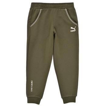 Oblačila Dečki Spodnji deli trenirke  Puma T4C SWEATPANT Kaki