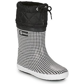Čevlji  Deklice Škornji za sneg Aigle GIBOULEE PRINT Črna / Bela