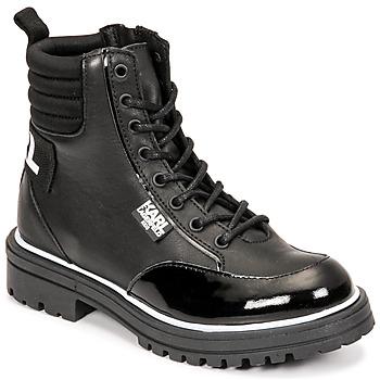 Čevlji  Deklice Mestni škornji    Karl Lagerfeld HOLISTA Črna