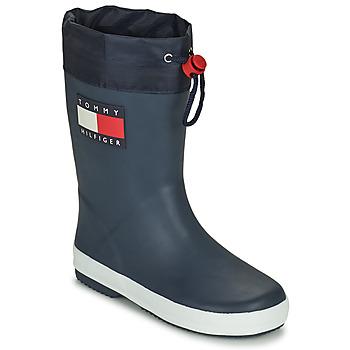 Čevlji  Otroci škornji za dež  Tommy Hilfiger T3X6-30766-0047800 Modra