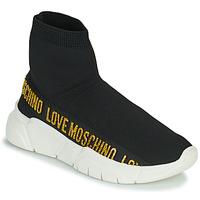 Čevlji  Ženske Visoke superge Love Moschino JA15633G0D Črna