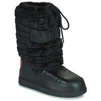 Čevlji  Ženske Škornji za sneg Love Moschino JA24232G0D Črna