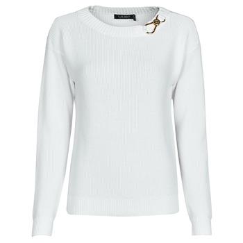 Oblačila Ženske Puloverji Lauren Ralph Lauren YAMINAH-LONG SLEEVE-SWEATER Bela