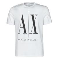 Oblačila Moški Majice s kratkimi rokavi Armani Exchange HULO Bela