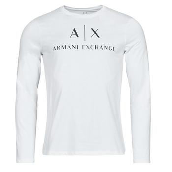 Oblačila Moški Majice z dolgimi rokavi Armani Exchange 8NZTCH Bela