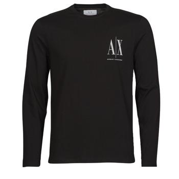 Oblačila Moški Majice z dolgimi rokavi Armani Exchange 8NZTPL Črna