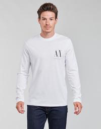 Oblačila Moški Majice z dolgimi rokavi Armani Exchange 8NZTPL Bela
