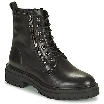 Čevlji  Ženske Gležnjarji Geox IRIDEA Črna