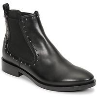 Čevlji  Ženske Gležnjarji Geox BROGUE Črna