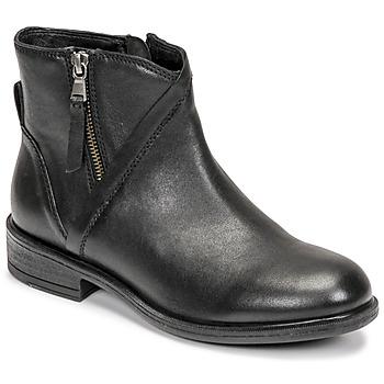 Čevlji  Ženske Gležnjarji Geox CATRIA Črna