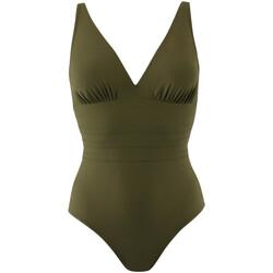 Oblačila Ženske Enodelne kopalke Janine Robin 991015-25 Zelena