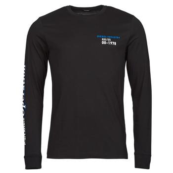 Oblačila Moški Majice z dolgimi rokavi Diesel T-DIEGOS-LS-K25 Črna