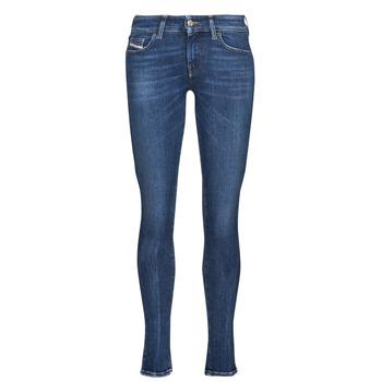 Oblačila Ženske Jeans skinny Diesel SLANDY-LOW Modra