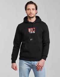 Oblačila Moški Puloverji Diesel S-GIRK-HOOD-B8 Črna