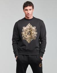 Oblačila Moški Puloverji Versace Jeans Couture VEMBLEM LEAF Črna / Pozlačena