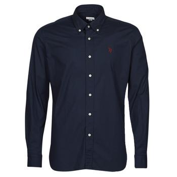 Oblačila Moški Srajce z dolgimi rokavi U.S Polo Assn. DIRK 51371 EH03 Modra