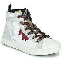 Čevlji  Deklice Visoke superge Geox SILENEX Bela