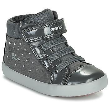 Čevlji  Deklice Visoke superge Geox GISLI Siva