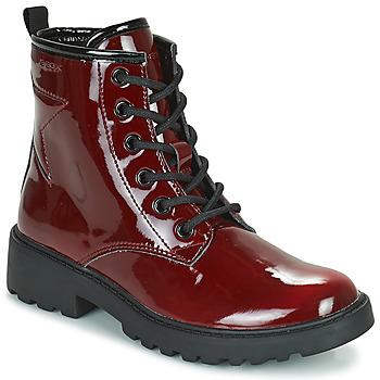 Čevlji  Deklice Polškornji Geox CASEY Bordo